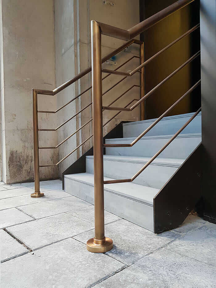 Patinated Brass Balustrades