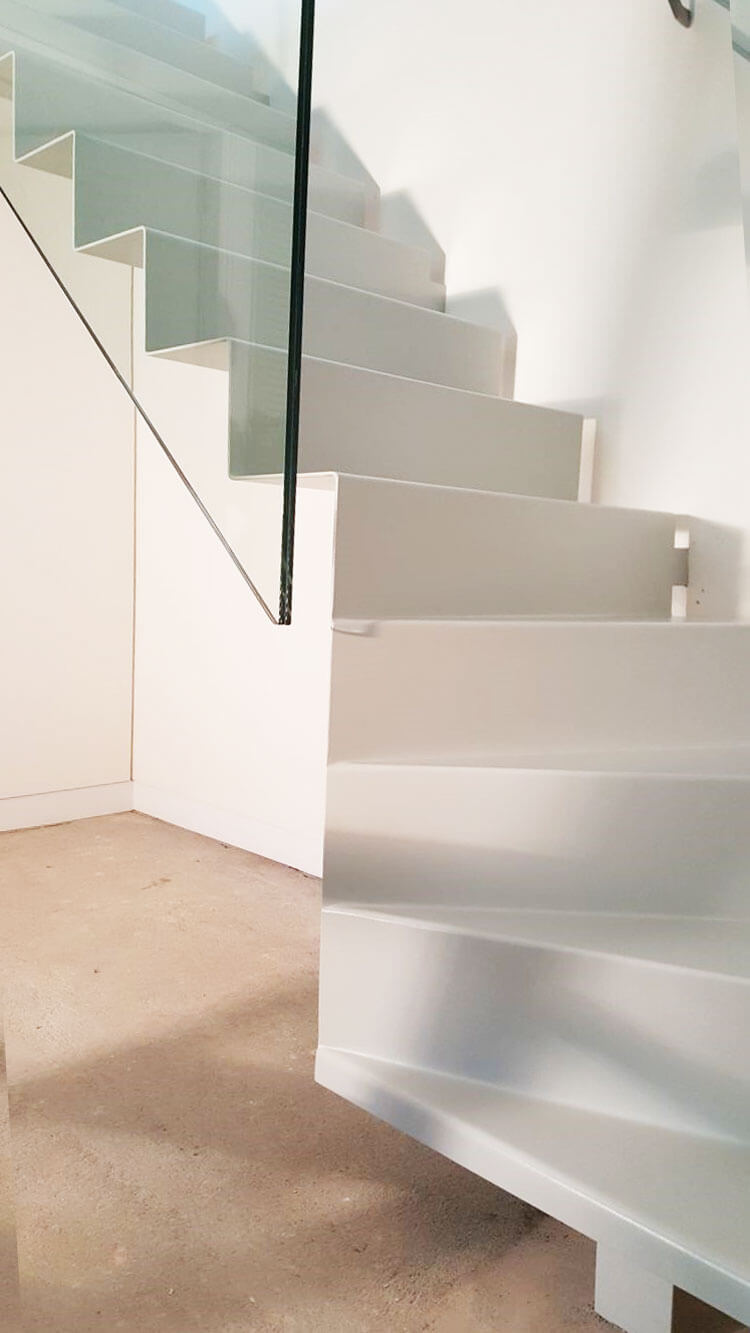 Folded Steel Staircase